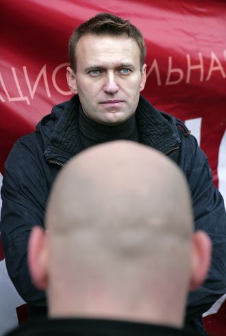 Navalny with Knuckleheads in tow