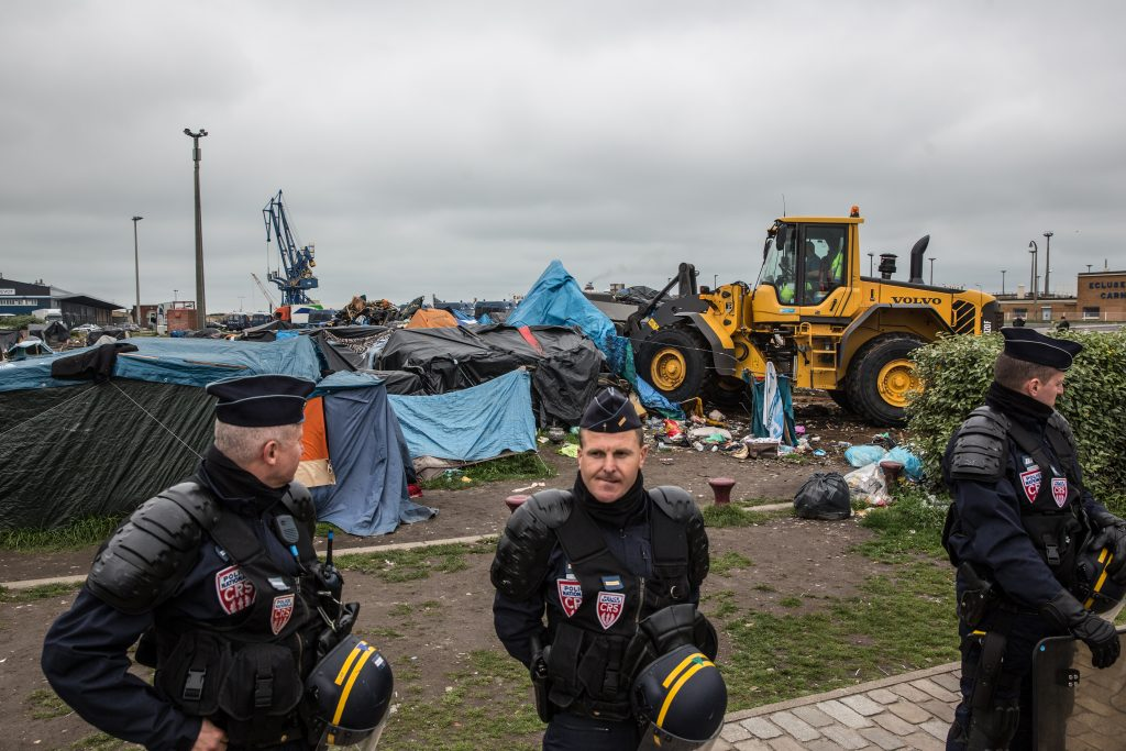 French authorities evicting refugee camps